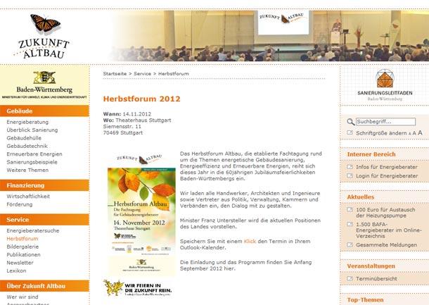 Herbstforum Altbau : Weiterbildung und Erfahrungsaustausch für Bauexperten
