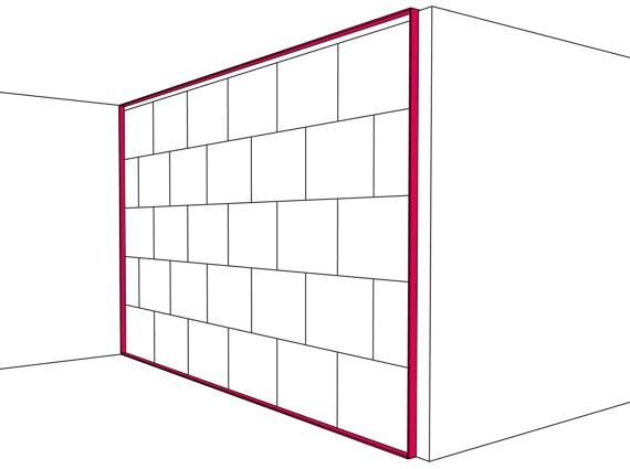 Gips-Massiv-Wände bilden bauakustisch betrachtet eine Einheit aus der Trennwand selbst und ihrem elastischen Anschluss mit einem Randanschlussstreifen. Bild: Multigips