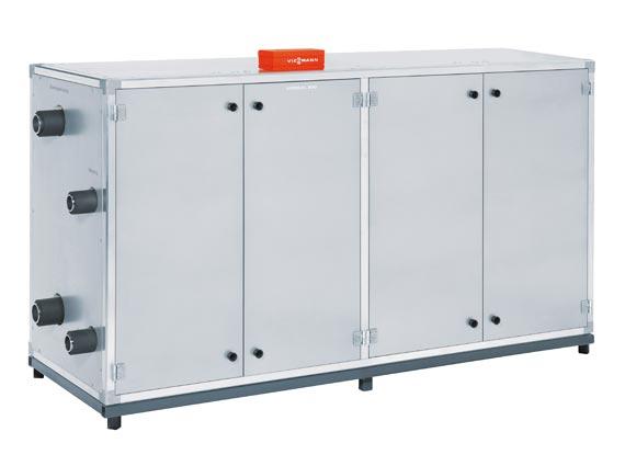 Die neue »Vitocal 300-W Pro« von Viessmann ist eine Serien-Wärmepumpe mit Leistungen bis 290 Kilowatt, kaskadierbar bis 1,45 Megawatt.