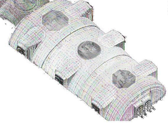 Schadensuntersuchung mit der FEM-Methode mit 3D-Daten, erfasst mit einem FARO Laser Scanne