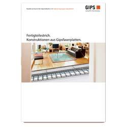 Neues Merkblatt »Fertigteilestrich. Konstruktionen aus Gipsfaserplatten« des Bundesverbands der Gipsindustrie