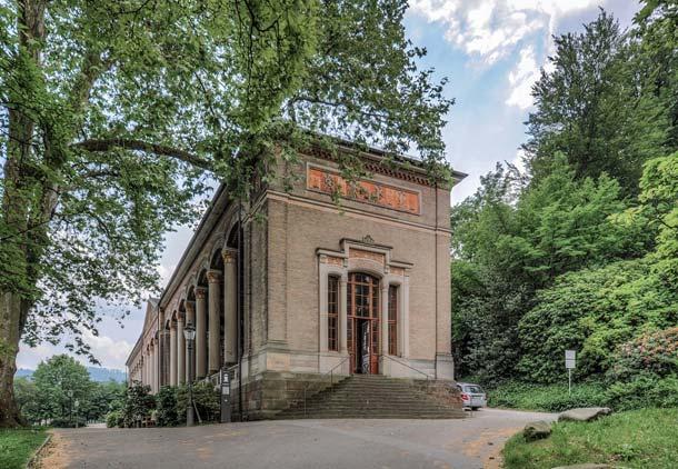 Die Trinkhalle in Baden-Baden gehört zu den architektonischen Wahrzeichen der Stadt. Foto: Alfred Kärcher