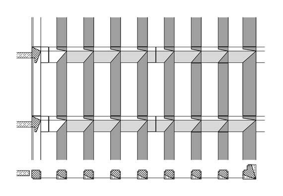 Detailzeichnung der Fassadenkonstruktion. Grafik: Ed. Züblin AG