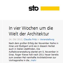 Mit dem Fassaden-Blog intensiviert Sto den Dialog mit der Architektenschaft