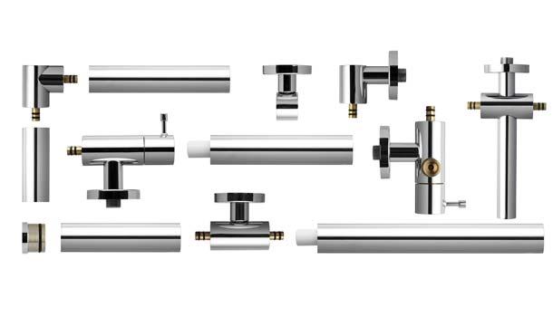 Aufputz-Wasserleitung Aquarail von kaja Sanitär-Armaturen