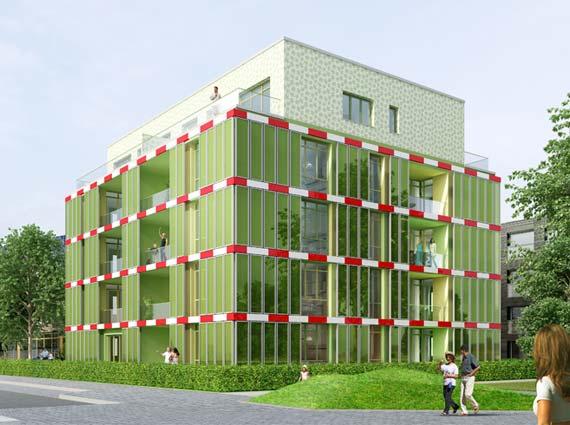 BIQ Algenhaus mit Bioreaktorfassade Biofassade