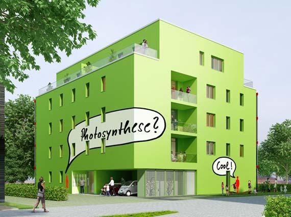 BIQ Algenhaus mit Bioreaktorfassade