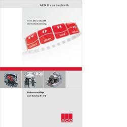 Broschüre Entwässerung planen von ACO Haustechnik
