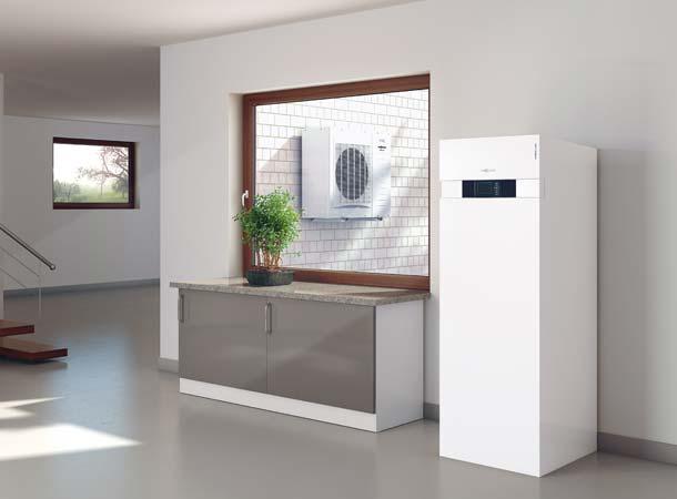 Mit »Vitocal« Wärmepumpen lässt sich ein Maximum des selbst erzeugten Solarstroms im eigenen Haus nutzen, im Bild die »Viessmann Vitocal 222-S«