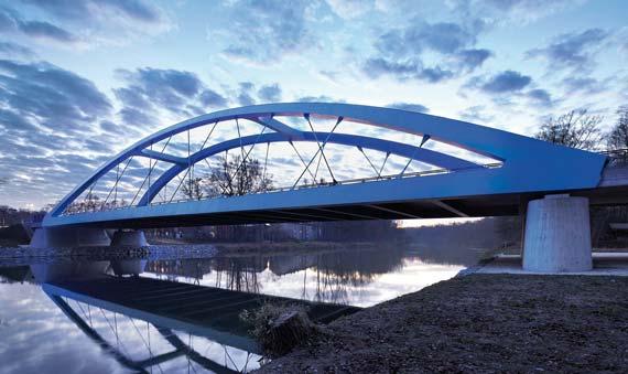 Ingenieurpreis des Deutschen Stahlbaues 2013 / Kategorie Brückenbau: Jürgen Schmidt und Peter Radl von SSF Ingenieure für die Donaubrücke Günzburg, Foto: Florian Schreiber