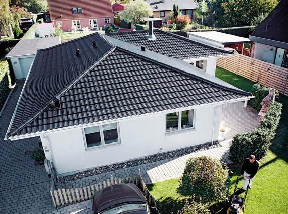 Stabil, sicher und optisch ansprechend: die Dacheindeckung von »Decra Icopal«. Foto: Decra Dachsysteme