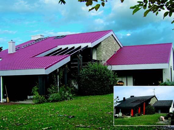 Die leichte und stabile Dacheindeckung von »Decra Icopal« eignet sich optimal für die Sanierung. Foto: Decra Dachsysteme