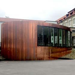 Saalanbau im Kloster Maria Hilf mit Holzbauelementen der Firma Lignotrend