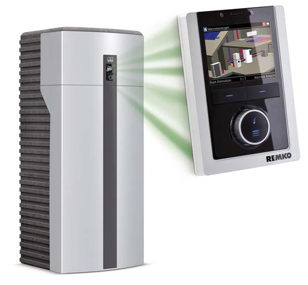 Neueste Entwicklung von Remko ist die Wärmepumpe »Smart-WP«, die mit Schüco Regelungstechnik ausgestattet wurde. Bild: REMKO GmbH & Co. KG