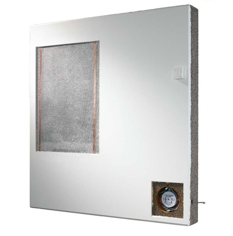 Die Infrarotwand »Harmony« sorgt eine gleichmäßige Temperaturverteilung im Raum. Die massiven FCN-Wandelemente verfügen über eine sehr flache Heizfolie. Bild: F. C. Nüdling GmbH & Co. KG