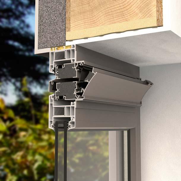 Renson kompakte, selbstregelnde Schalldämmlüftung mit i-Flux Technologie AK80EVO