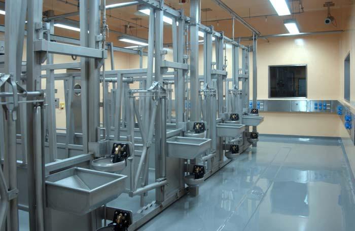 Die Labore und Ställe mit der Sicherheitsstufen 3 und 4 wurden in einem »Containment« eingerichtet. Dabei muss die Gebäudehülle luft- und gasdicht verschlossen sein. Foto: Sika Deutschland GmbH