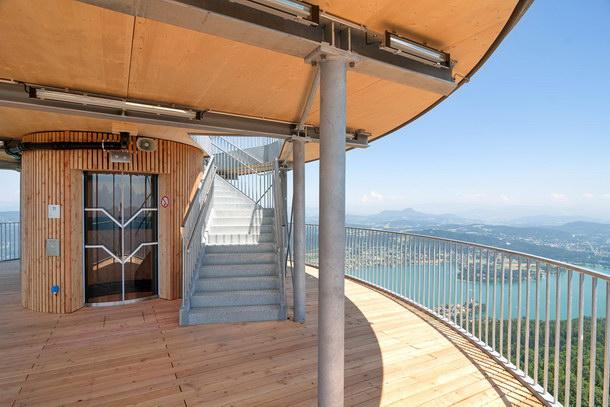 Panoramablick: Die höchste Besucheretage liegt in fast 71 m Höhe