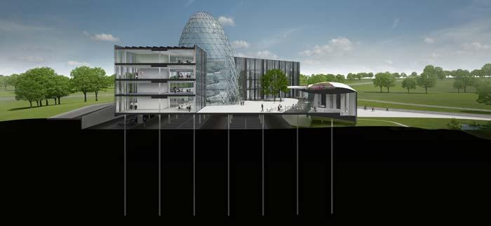 Das Gebäude verfügt über sechs Sole-Wasser-Wärmepumpen von Stiebel Eltron mit einer Gesamtleistung von 202 kW. Bild: Bayer Material Science AG
