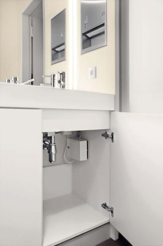 Der AEG Klein-Durchlauferhitzer MTD 350 sorgt am Handwaschbecken für einen hohen Warmwasserkomfort. Foto: AEG Haustechnik