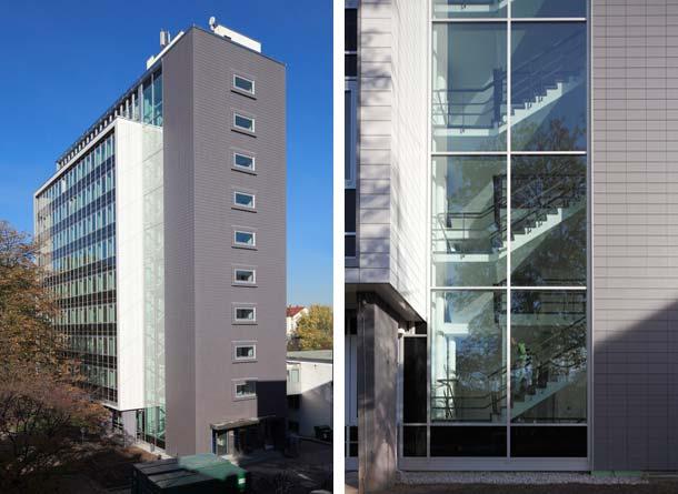 In der Karlsruher Innenstadt wurde ein denkmalgeschütztes Bürohochhaus im laufenden Betrieb saniert. Innerhalb von nur drei Monaten hat Freyler Metallbau die Pfosten-Riegel-Fassade komplett erneuert.