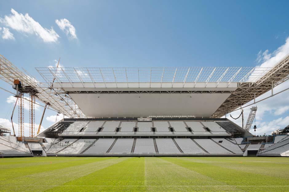 65.800 Fans finden in der neuen Arena de São Paulo Platz. Foto: Marcus Bredt