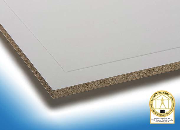 Miprotec M-Brandschutzplatten sind in verschiedenen Dicken erhältlich. Eine Spachtelkante und die Papierkaschierung ermöglichen die unmittelbare Endbehandlung. Foto: Techno-Physik Eng. GmbH, Essen