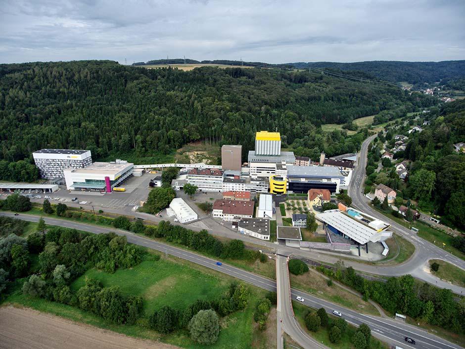 Die Sto-Firmenzentrale in Stühlingen-Weizen