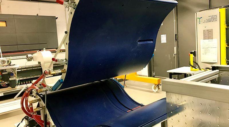 Imprägnierwerkzeug für Faserverbundmaterialien, das aus einer Ober- und einer Unterschale besteht. Bild: Viola Gräfenstein/TH Köln