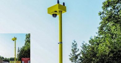 Speziell zur Sicherung von Ein- und Ausfahrten, Lager- und Baustelleneinrichtungsflächen sowie Containerparks bieten ISG und Maibach Velen nun ein neues, kompaktes Kamerasystem an: Video Guard One. Foto: Video Guard