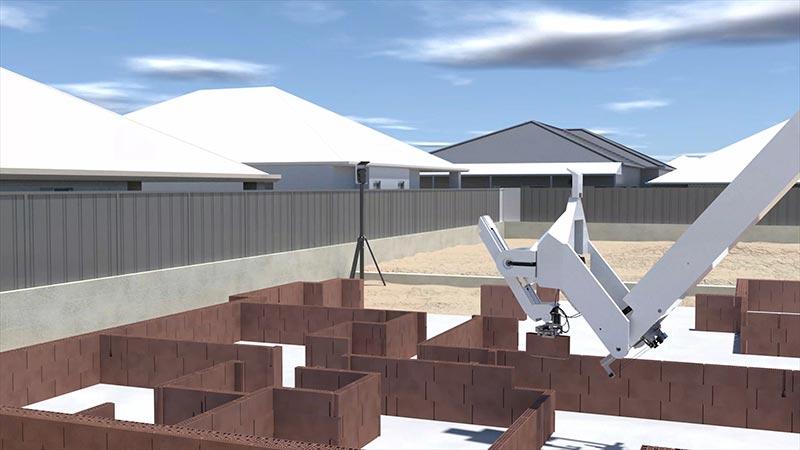 Der Bauroboter Hadrian X ist für die Arbeit im Freien optimiert und kann Wohnbauten vollautomatisiert errichten. Foto: Wienerberger