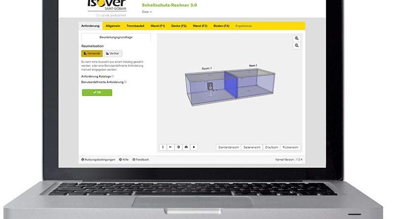 Mit dem neuen ISOVER Schallschutz-Rechner bietet der Dämmstoffspezialist ein innovatives Berechnungsprogramm zur Prognose der Luft- und Trittschalldämmung. Mehr unter www.isover.de/schallschutzrechner. Foto: SAINT-GOBAIN ISOVER G+H