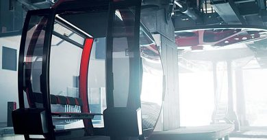 Die Einseilumlaufbahn-Kabine OMEGA V. Bild: CWA