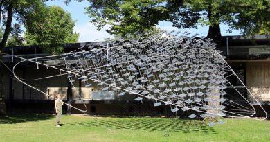 """Solare OPV Leichtbauinstallation """"Solar Spline"""" Bildrechte: Fachgebiet Experimentelles Entwerfen und Konstruieren (eek)"""