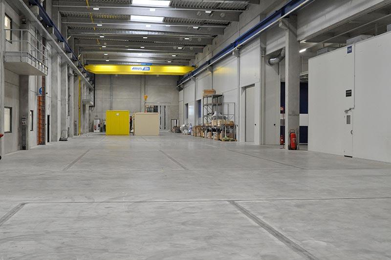 Funktionaler und optisch anspruchsvoller Industrieboden mit High Grade. Foto: Fabrino