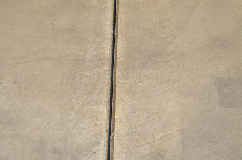 Fugenarme Ausführung mit Stahlfugenprofil. Foto: Fabrino