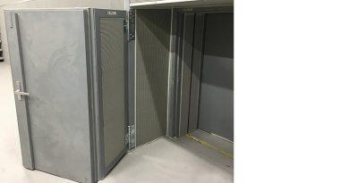 Die besondere Konstruktion ermöglicht die vollständige Öffnung der Türe. Bildquelle: Buchele GmbH