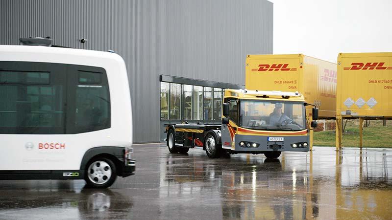 Der Transport von Personen und Gütern wird auf Teststrecken erprobt. Foto: Bosch