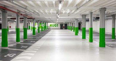 Bei der Instandsetzung des Parkhauses im Marquardtbau setzten die Verantwortlichen eine Carbonbewehrung von solidian ein. Foto: Jürgen Pollak