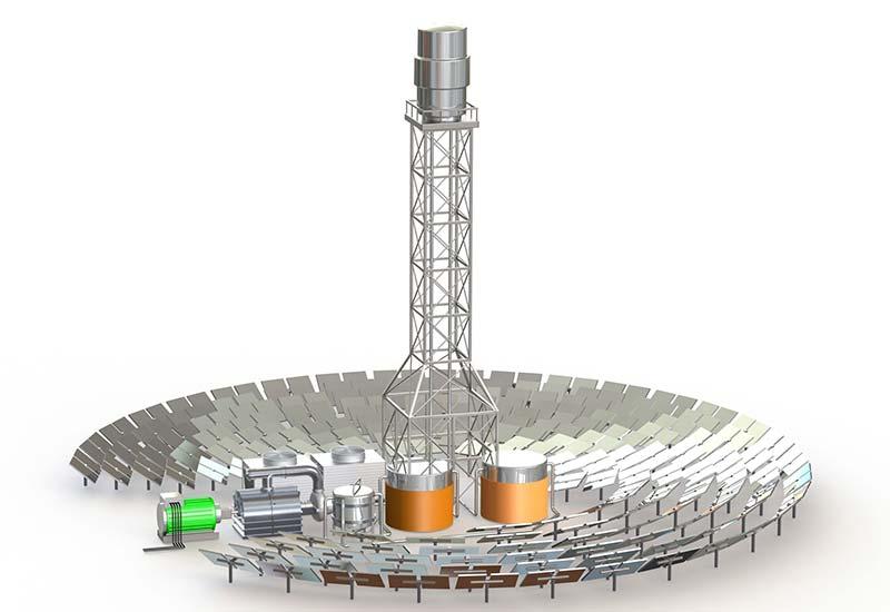 Ein wesentlicher Ansatzpunkt für eine effiziente und kostensparende Nutzung von CSP-Systemen ist der im System zirkulierende Wärmeträger. Hier werden häufig Salzschmelzen als Medium eingesetzt, die sich aufgrund ihrer Eigenschaften gegenüber Thermalöl behaupten. Quelle: Watlow Electric Manufacturing Co.