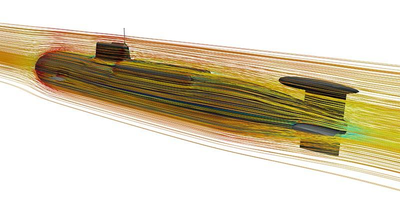Virtuelle Prüfstände sind in ihrer Größe unbeschränkt. So lassen sich selbst U-Boote in kompletter Größe und bis ins letzte Detail problemlos simulieren.