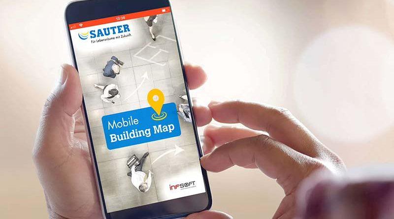 Um den Besuch des Freiburger Unternehmenssitzes und der Demo-Etage besonders bequem zu gestalten, stellt SAUTER eine Mobile Building Map-App zur Indoor-Navigation zur Verfügung. Bild: SAUTER