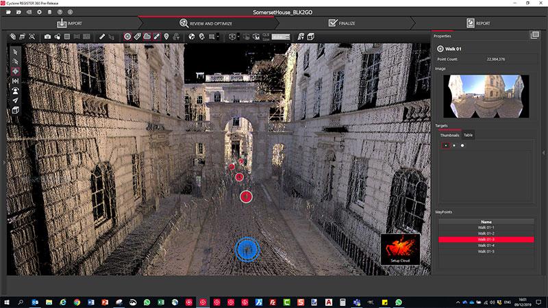Der kabellose BLK2GO digitalisiert Räume in 3D mithilfe von Bildern und maßgenauen Punktwolken in Echtzeit.