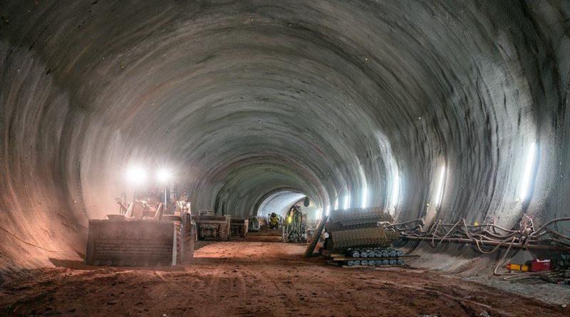 Für den Tunnelbau kommen Dyckerhoff Transportbetone der Druckfestigkeitsklassen C 25/30 bis C 35/45 zum Einsatz. Foto: Ed. Züblin AG