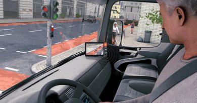 Abbiege-Assistenzsystem im Fahrzeug. Bild: Agentur HzweiS