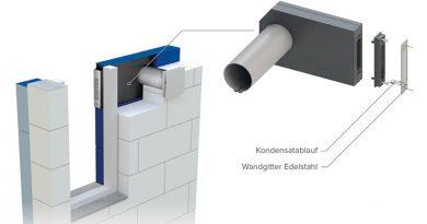 Mit dem Fensterlaibungselement kann das B44 160 für die Außenfassade kaum sichtbar eingebaut werden. Bild: Vallox GmbH