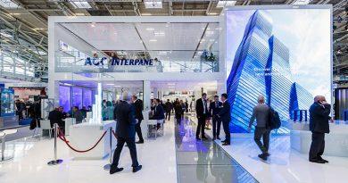 Der Messestand von AGC Interpane auf der BAU 2019. Foto: René Müller für AGC Interpane