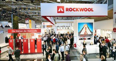 Messestand der Deutsche Rockwool in der Halle A1. Für den Januar 2021 hat das Unternehmen seine Beteiligung abgesagt. Bild: Deutsche Rockwool GmbH & Co. KG