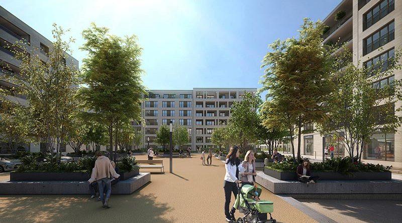 """Das neue Stadtviertel """"Ban de Gasperich"""" in Luxemburg ist Teil eines integrativen Verkehrs- und Landesentwicklungskonzepts, welches auch den sozialen Wohnungsbau vorantreibt: Rund 80 Wohnungen in den vier Wohnblöcken sind Sozialwohnungen, beim Rest handelt es sich um Eigentumswohnungen. Bildquelle: Zehnder Group Deutschland GmbH, Lahr"""