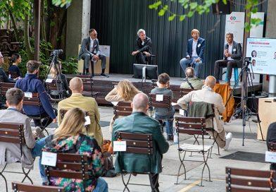 Das Thema Cradle to Cradle in der täglichen Praxis und Zukunftsaussichten wurden auf dem C2C Summit Bau und Architektur in der Berliner Oberhafenkantine diskutiert. Foto: C2C LAB